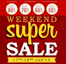 snapdeal-weekend-super-sale-flat-80-off-17-18-jan-2015