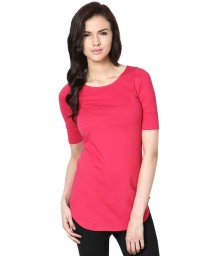 Femella-Pink-Solids-Polyester-Top