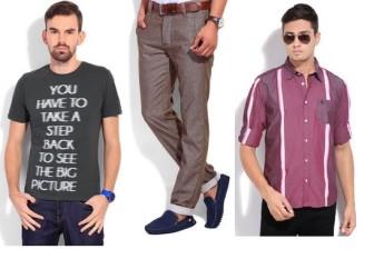 Flipkart Deal of the Day: Buy Branded Men's Clothing at FLAT 60% OFF.