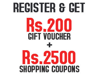 Register and Get Rs. 200 Gift Voucher and Rs. 2500 shopping coupons