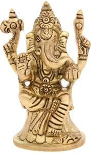 Brass Gold Plated Lord Ganesha Idol