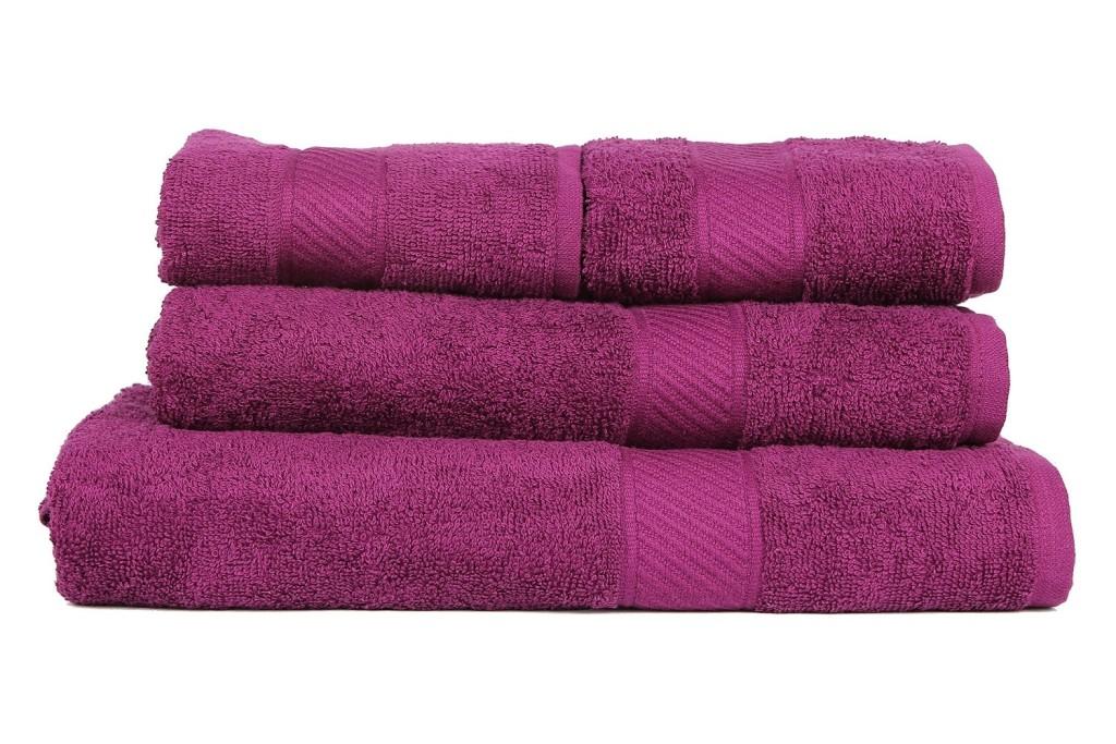 Deep Purple Couple Bath Towels Set by Trident